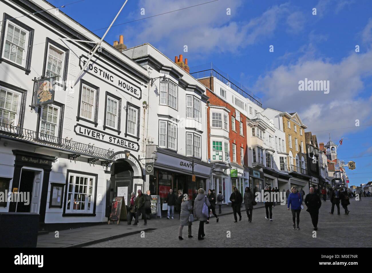 Angel Hotel, High Street, Guildford, Surrey, England, Great Britain, United Kingdom, UK, Europe - Stock Image