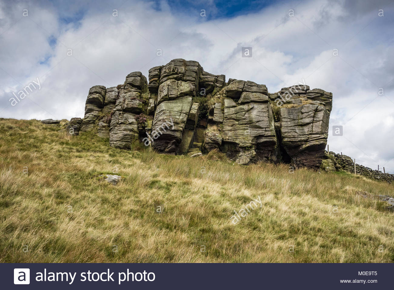 Cold Stone in the Forest of Bowland in Lancashire, an Area of Outstanding Natural Beauty (AONB) - Stock Image
