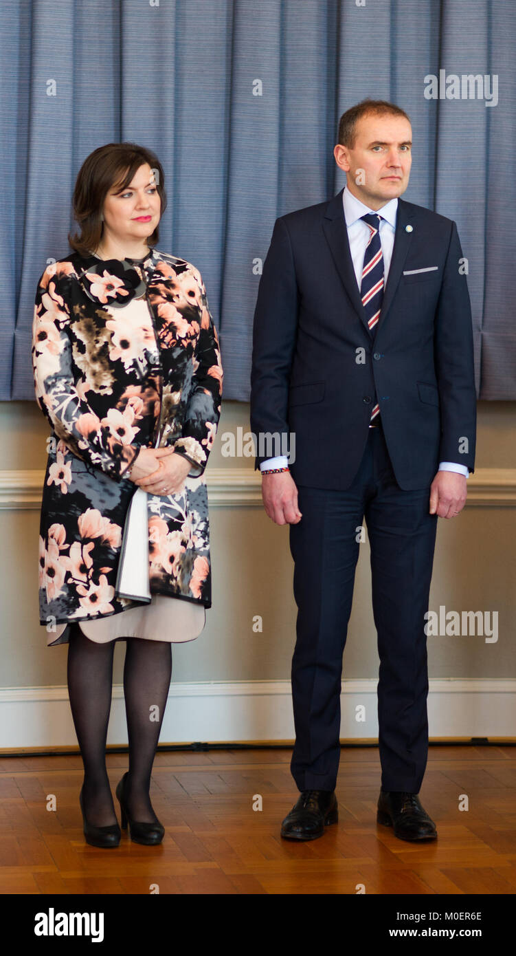 Stockholm, Sweden, 19th January, 2018.  From 17 to 19 January, Iceland's President Guðni Thorlacius Jóhannesson, visiting Sweden. Stock Photo
