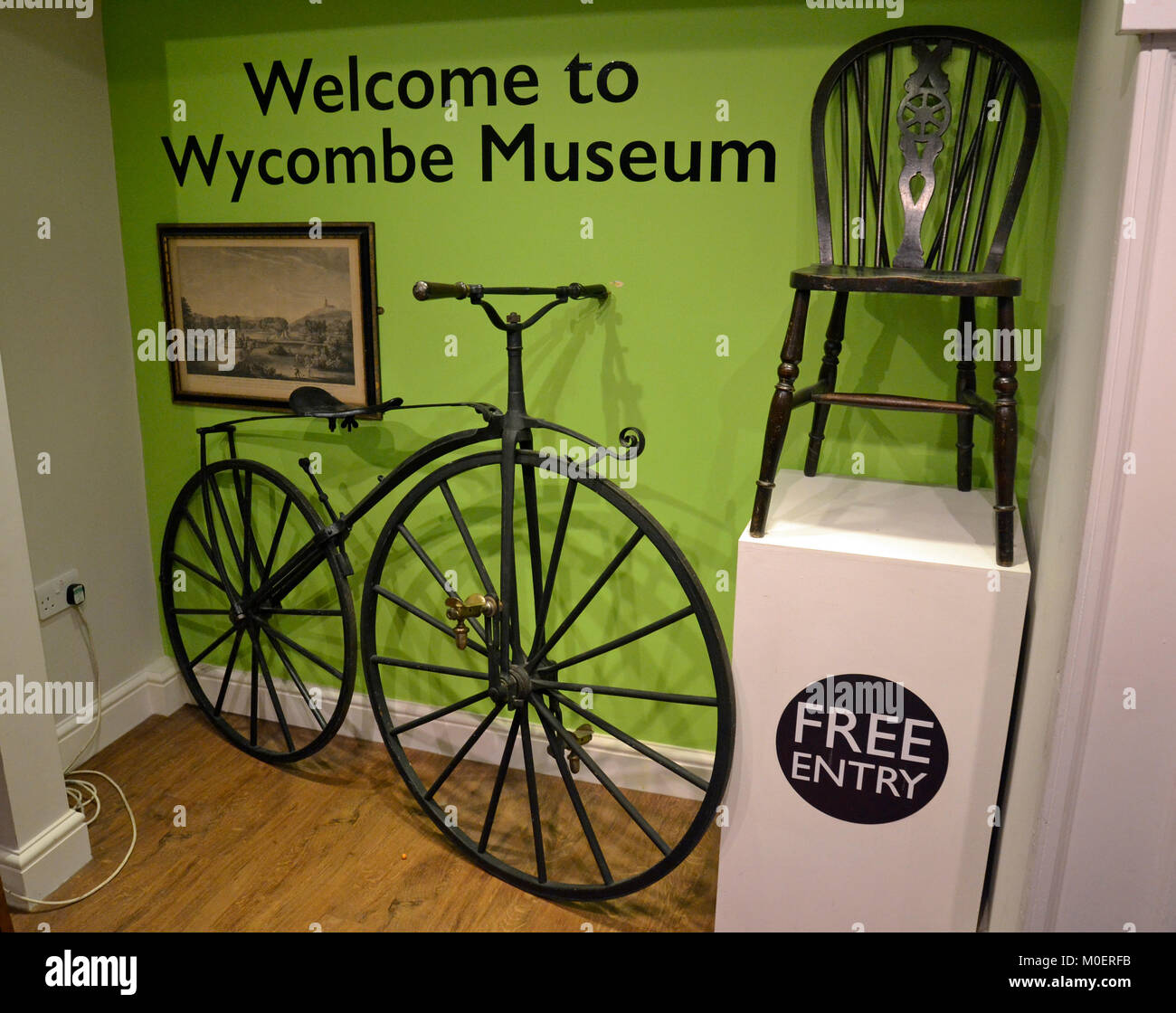 The entrance hall at Wycombe Museum - Stock Image