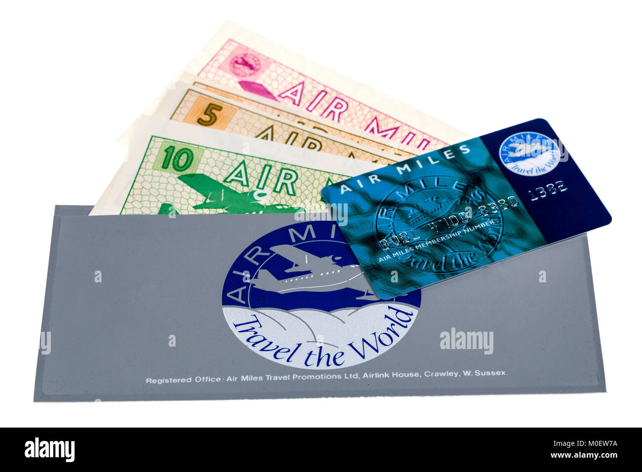 Air Miles wallet, vouchers and card - Stock Image