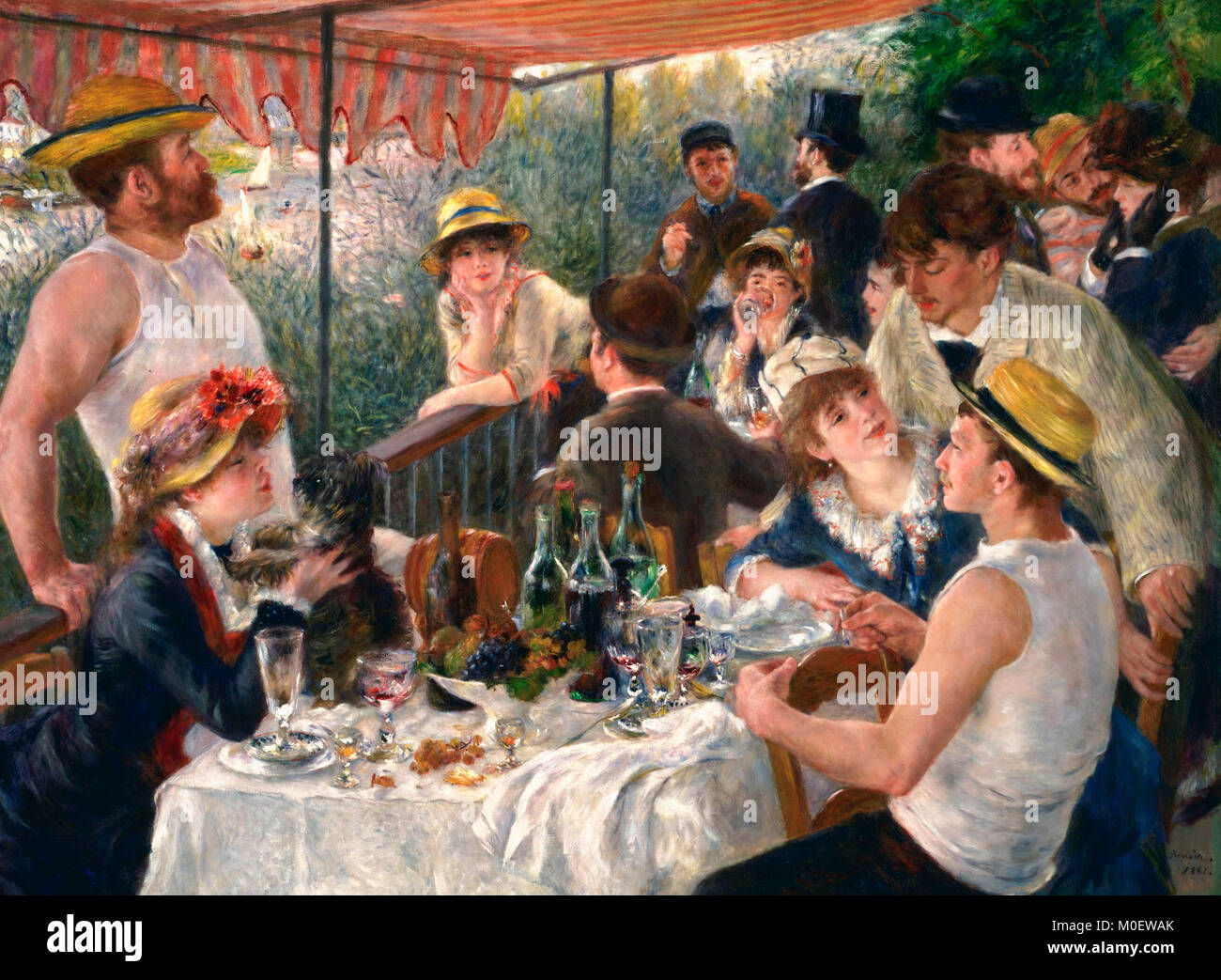 Luncheon of the Boating Party - Pierre-Auguste Renoir circa 1880 - Stock Image