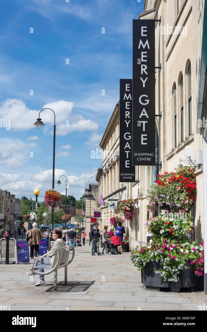 Entrance to Emery Gate Shopping Centre, High Street, Chippenham, Wiltshire, England, United Kingdom - Stock Image