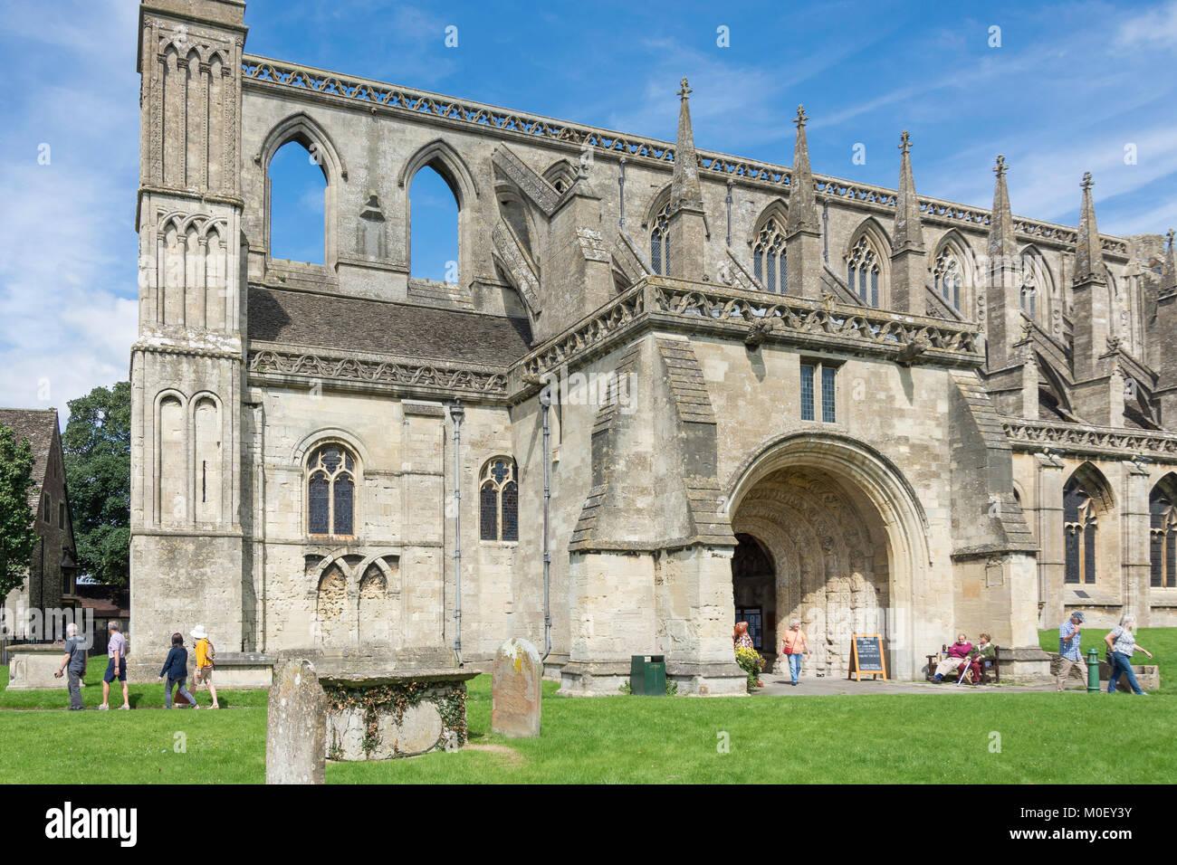 The South Porch, Malmesbury Abbey, Malmesbury, Wiltshire, England, United Kingdom - Stock Image