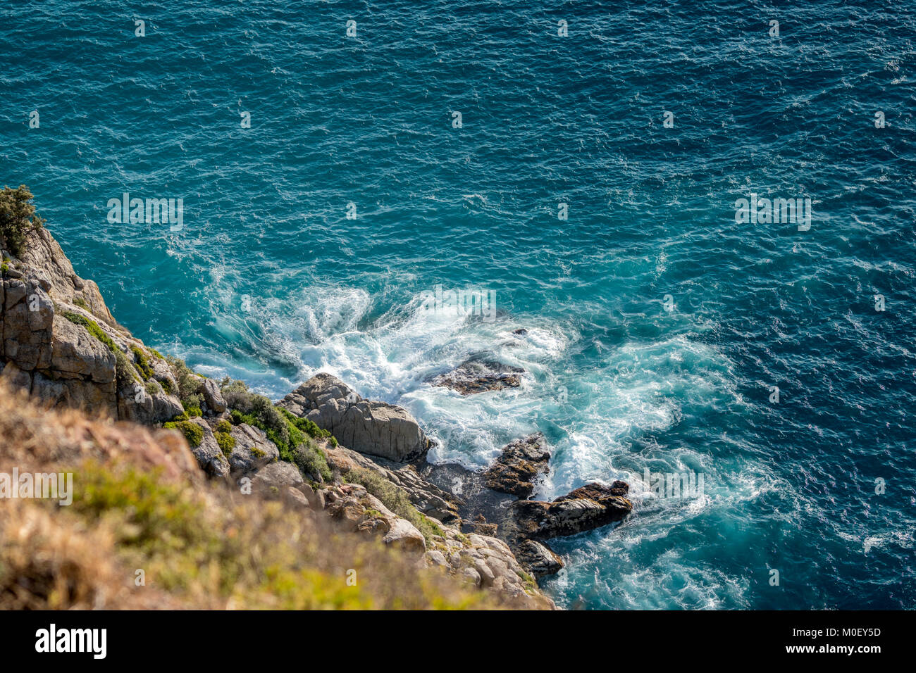 Waves crashing at Cape Point, Cape Town, Western Cape, South Africa - Stock Image