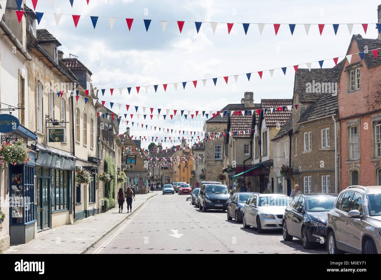 High Street, Corsham, Wiltshire, England, United Kingdom Stock Photo