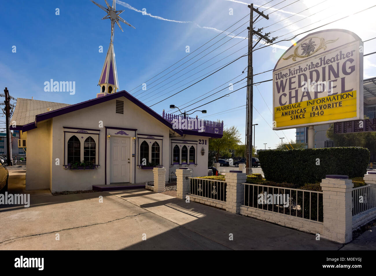Weekirk O The Heather Wedding Chapel In Downtown Las Vegas