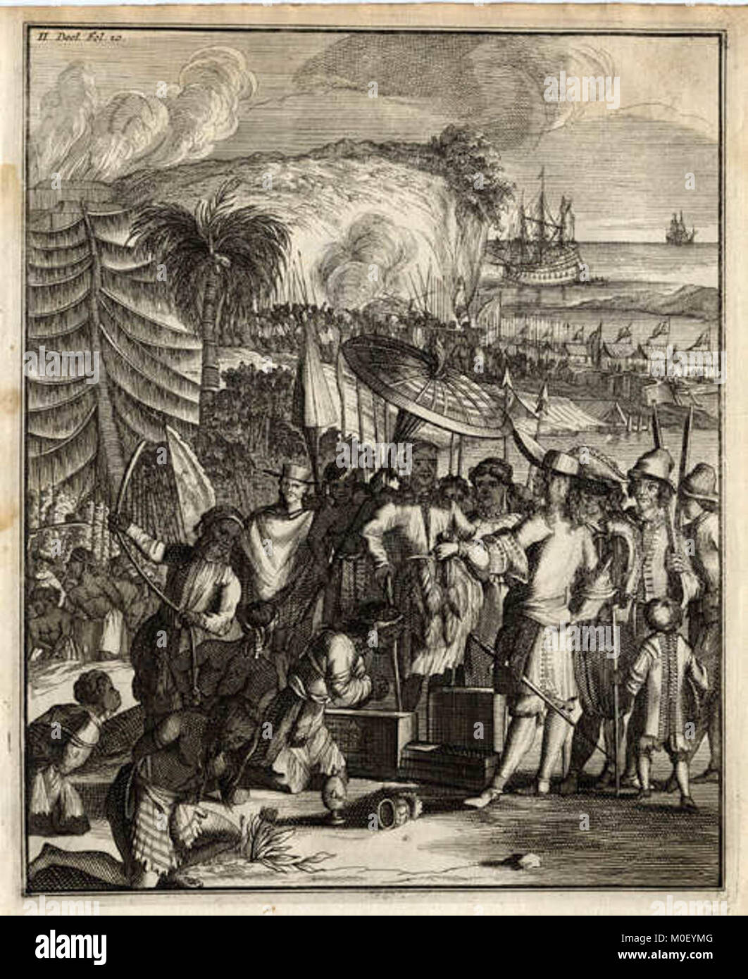 Natives of Arakan sell slaves to the Dutch East India Company, c. 1663 - Stock Image