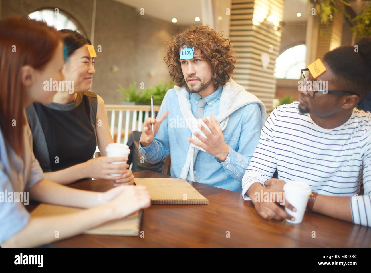Funny meeting - Stock Image