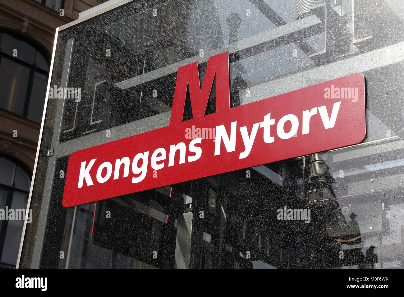 COPENHAGEN - MARCH 11: Kongens Nytorv metro station on March 11, 2011 in Copenhagen, Denmark. It is a popular mode - Stock Image