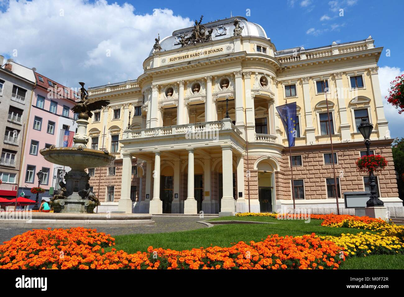 Bratislava, Slovakia. National Theater of Slovakia in summer. - Stock Image