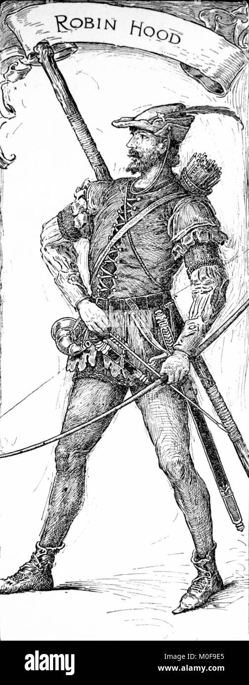 Robin Hood. A 1912 illustration by Louis Rhead - Stock Image