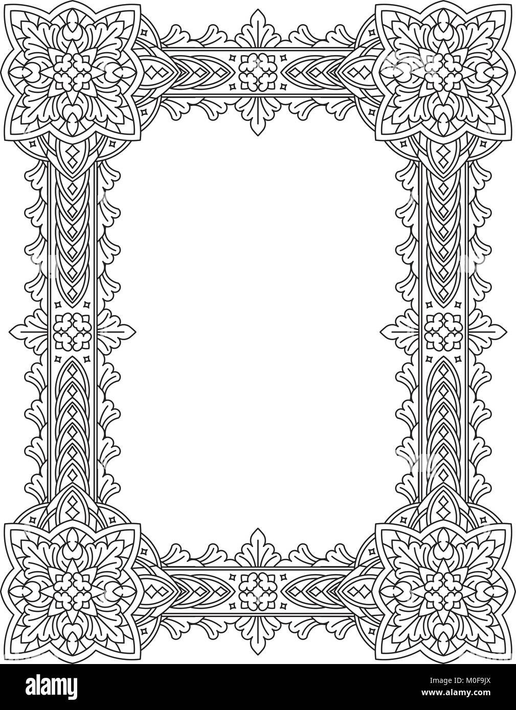 Vintage decorative frame can be used for retro vintage greeting can be used for retro vintage greeting card or invitation indian persian islam arabic motifs m4hsunfo