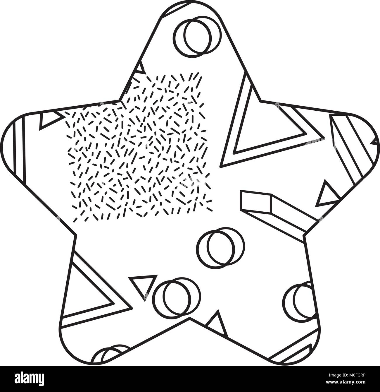 90s style black and white stock photos images alamy Packard Convertible pattern shape star with geometric memphis style stock image