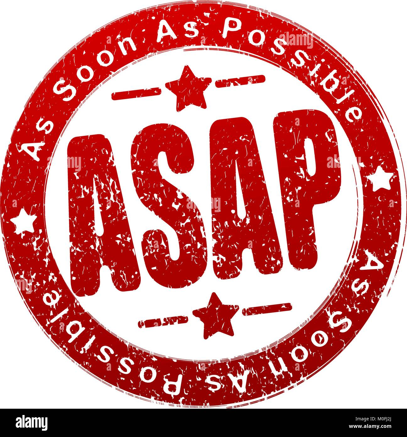 ASAP. Rubber stamp. Vector illustration. - Stock Image