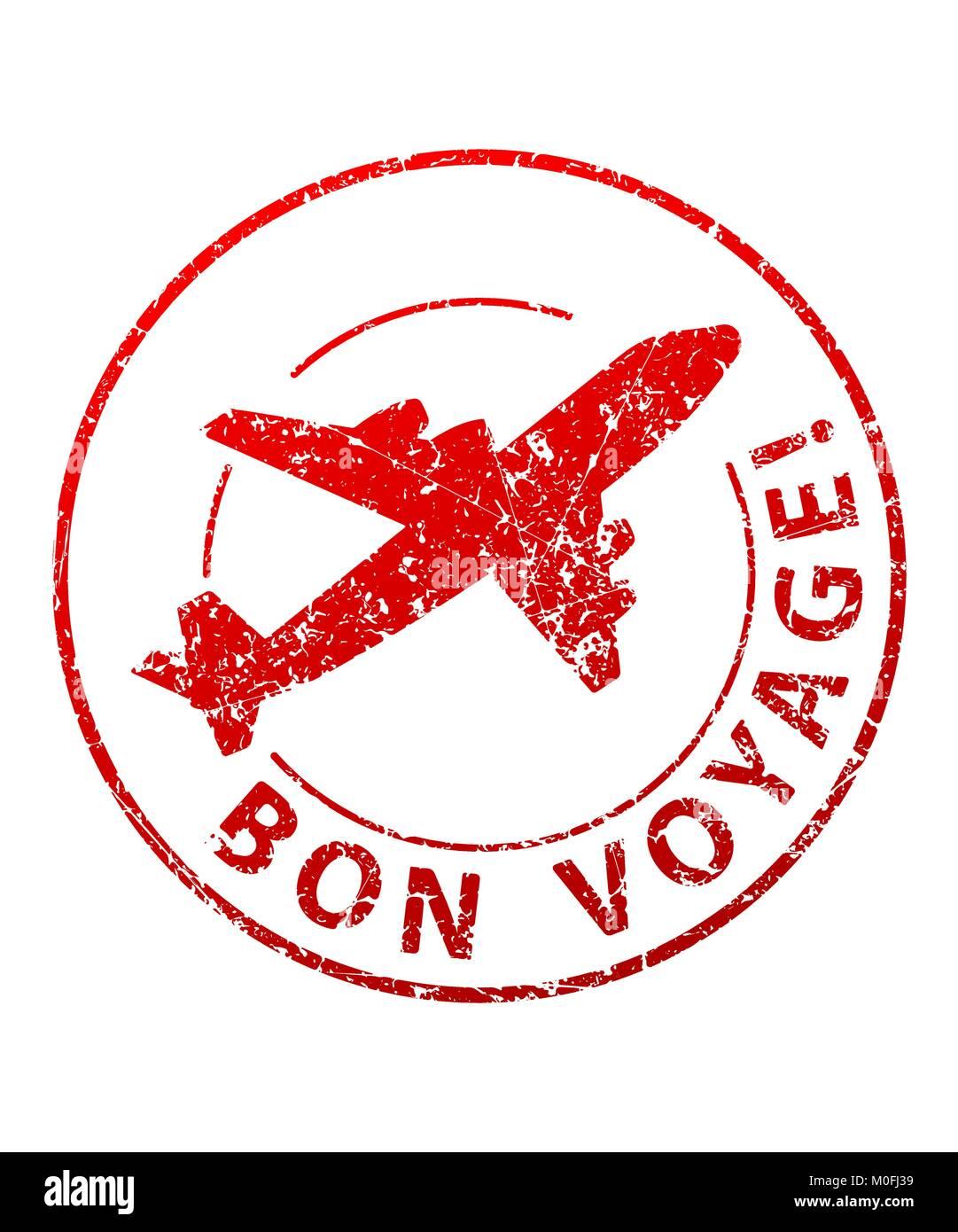 Bon voyage rubber stamp Stock Vector Image & Art - Alamy