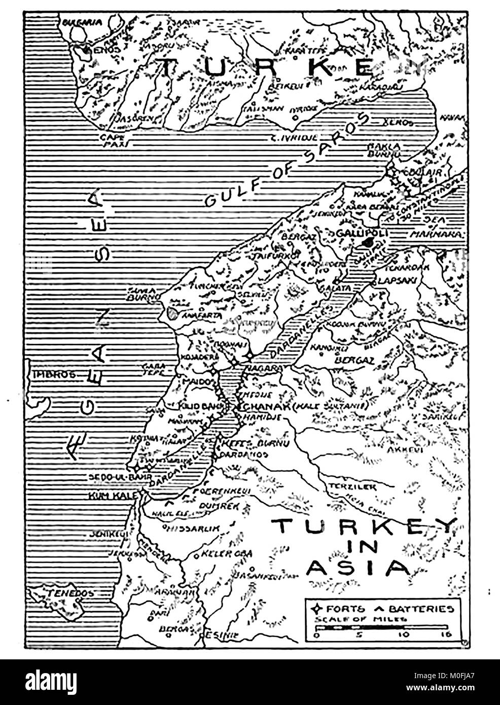 WWI - A 1917 map showing military activity in the 1914-1918 First World War Stock Photo