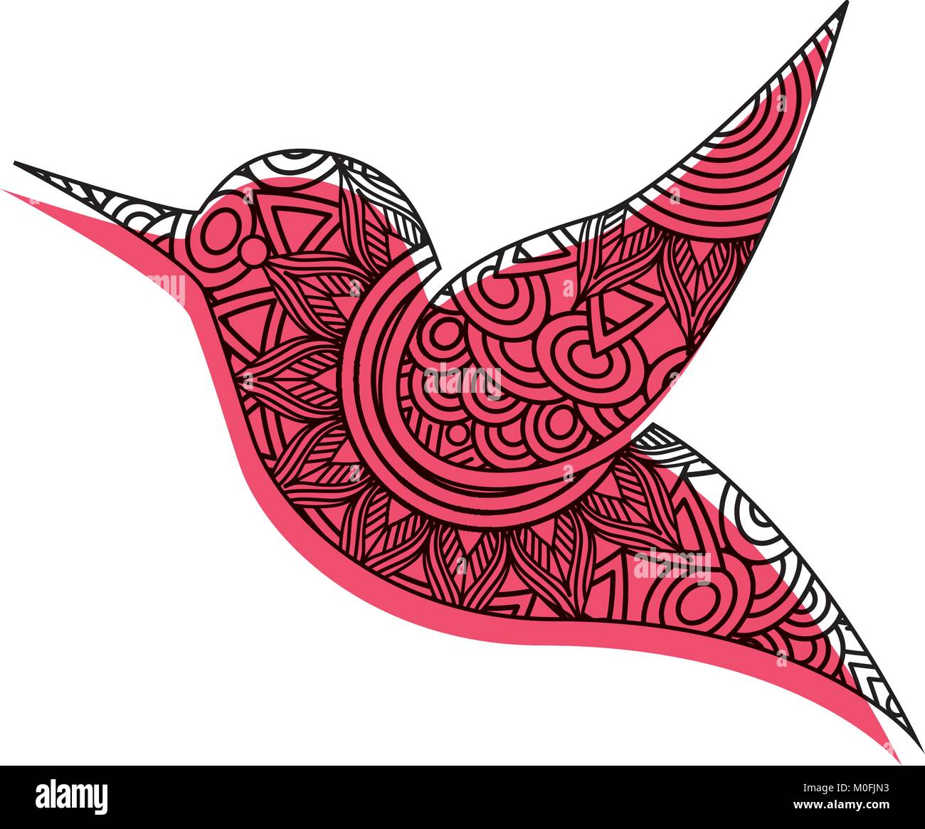 Beautiful Flying Bird Coloring Page Stock Photos & Beautiful Flying ...