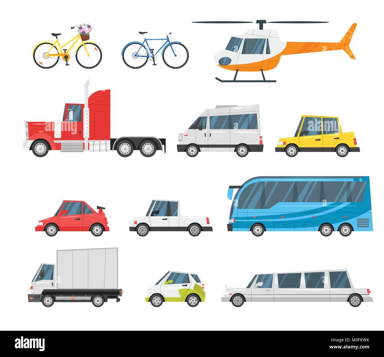 set of city transport  - Stock Vector