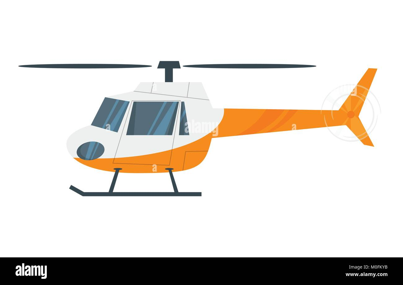 illustration of  helicopter - Stock Image