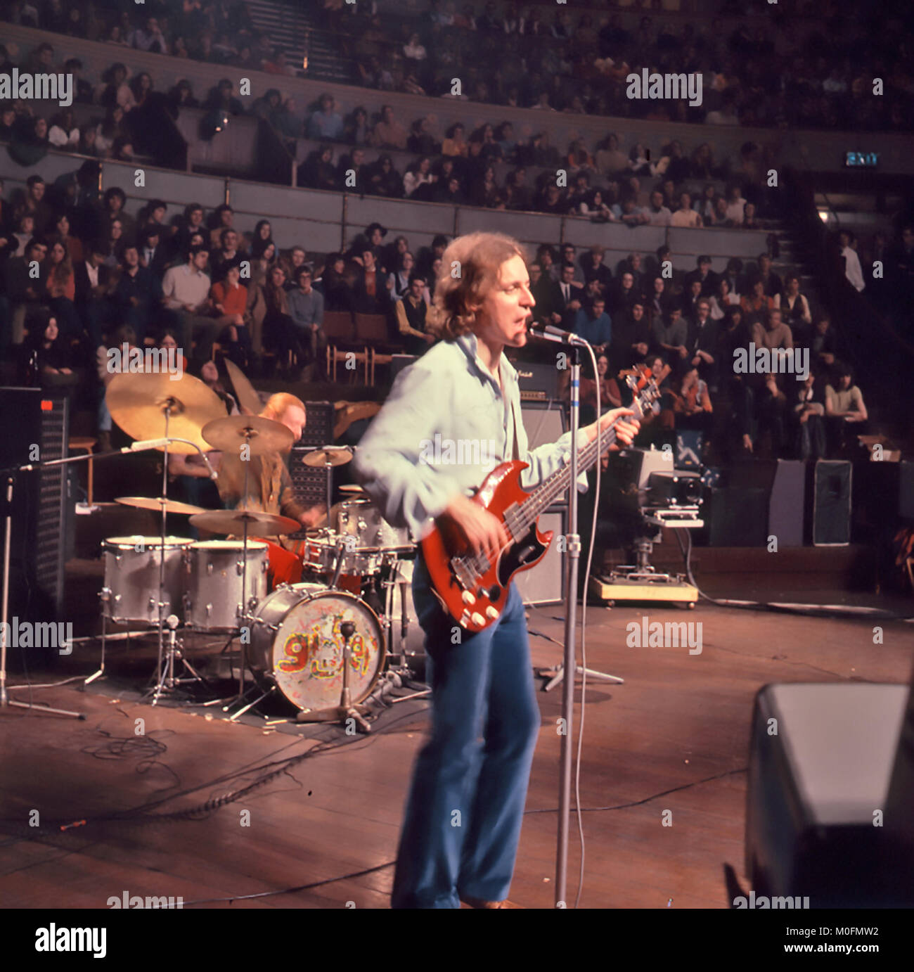 CREAM UK rock group farwell concert at the London Albert Hall 26 November 1968. with Jack Bruce on guitar. Photo: - Stock Image