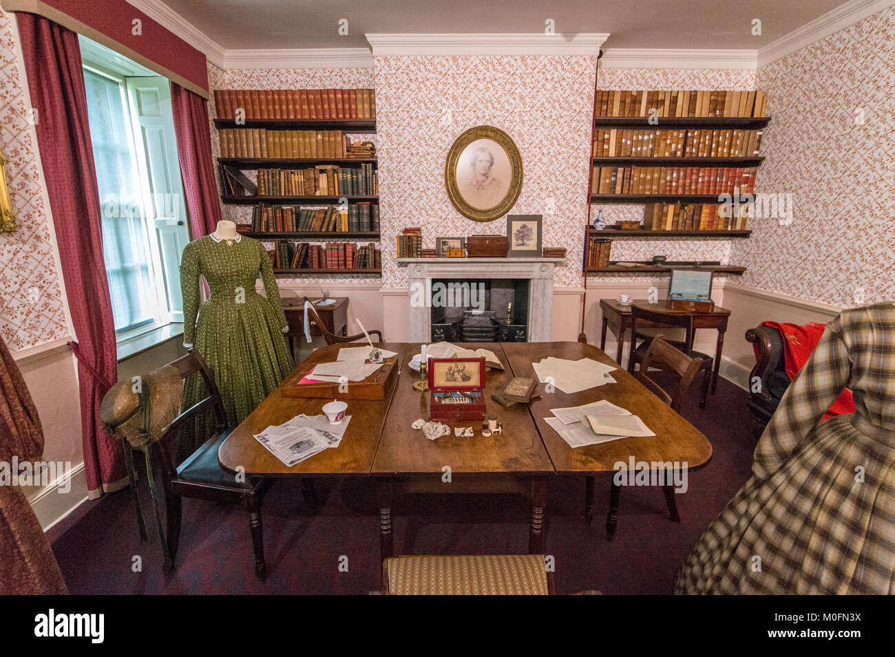 Interior Of Dining Room At Bront Parsonage Museum Haworth West Yorkshire England