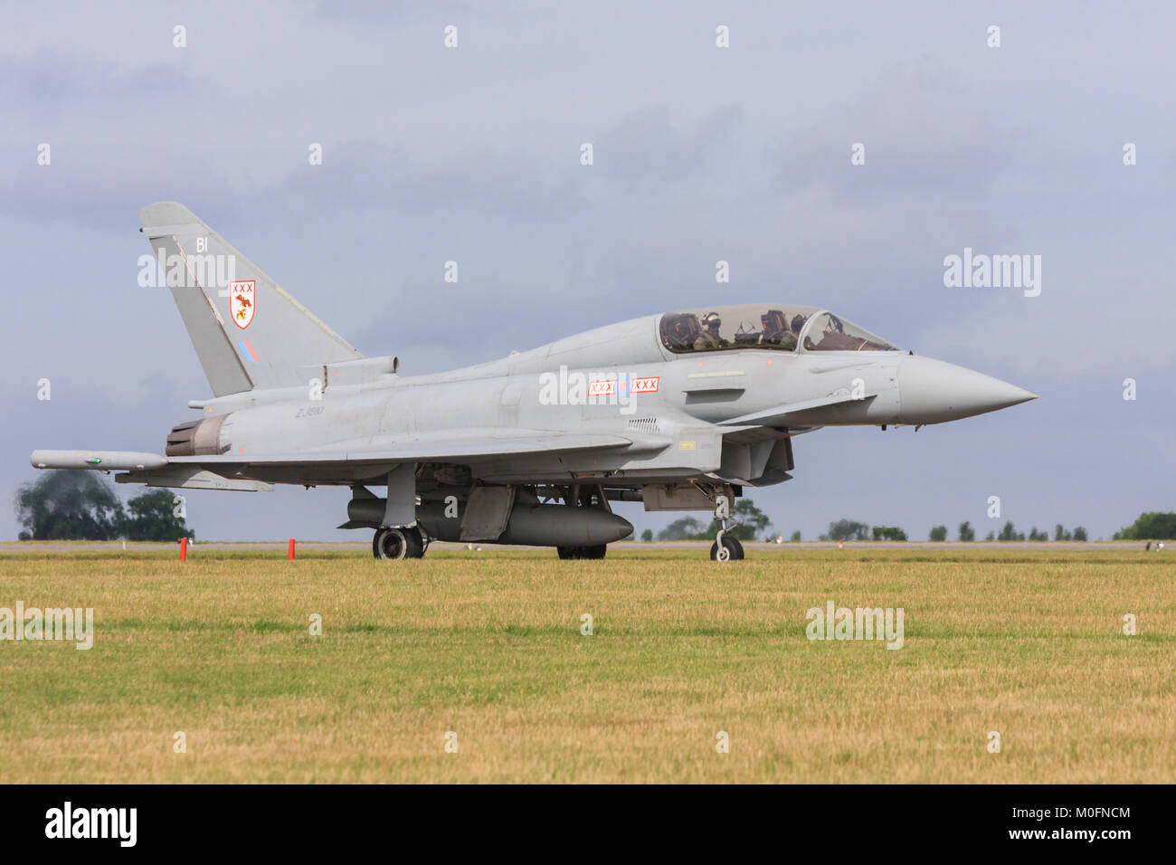 Twin seater typhoon Eurofighter jet taxiing for takeoff. - Stock Image