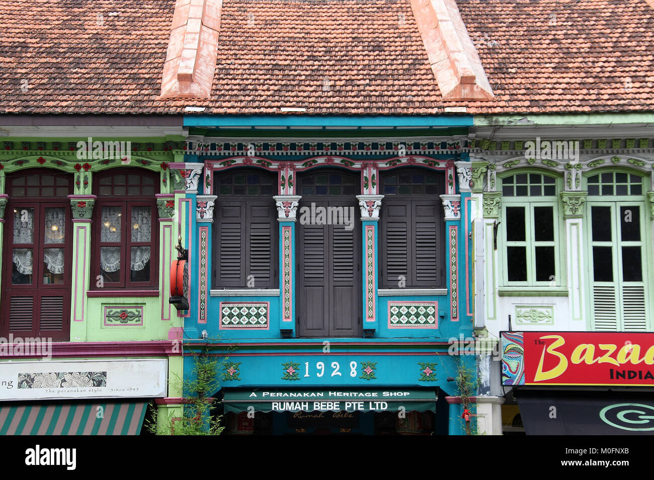 Peranakan Shophouses Stock Photos & Peranakan Shophouses Stock ...