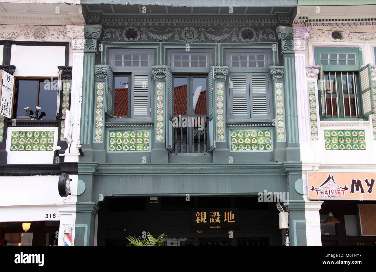 Joo Chiat Shophouse in Singapore - Stock Image
