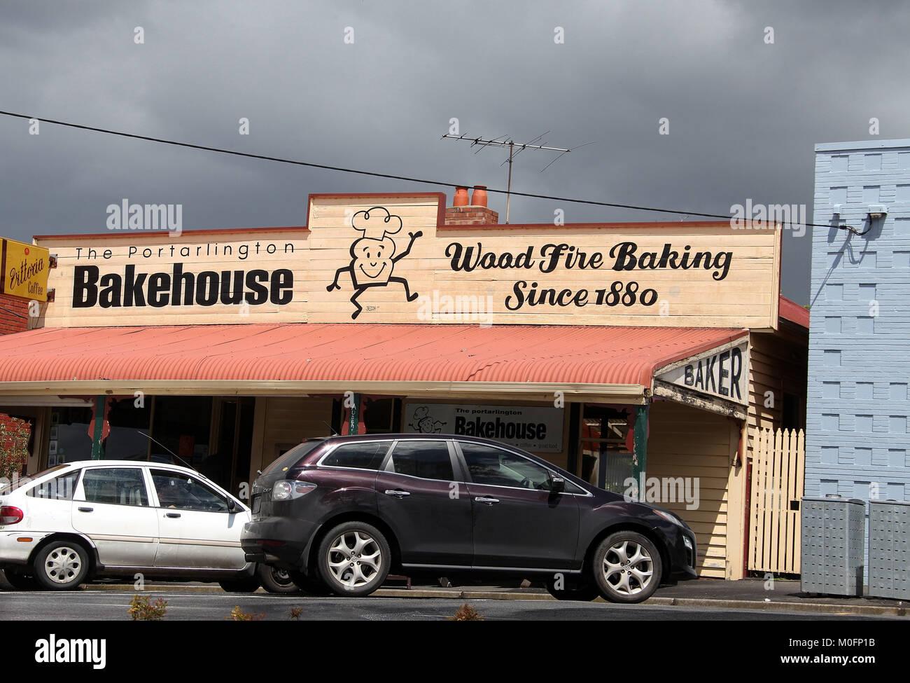 Portarlington Bakehouse in Australia - Stock Image