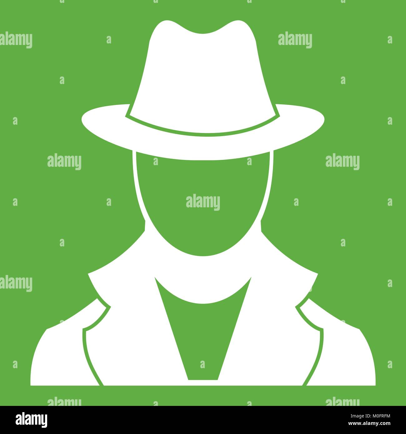 Spy icon green - Stock Vector
