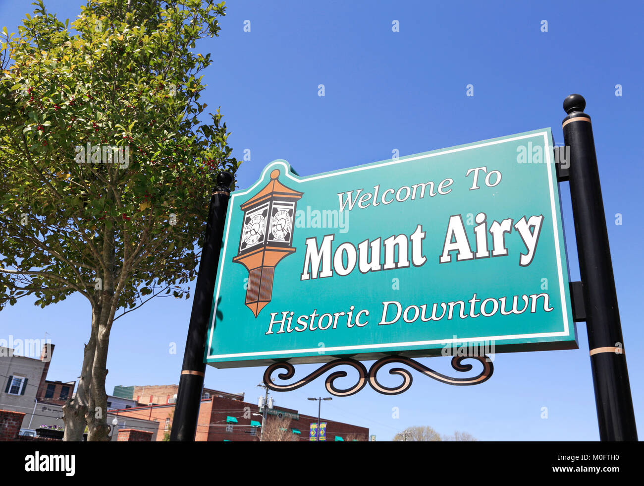 Mount Airy, North Carolina. Historic downtown. Stock Photo