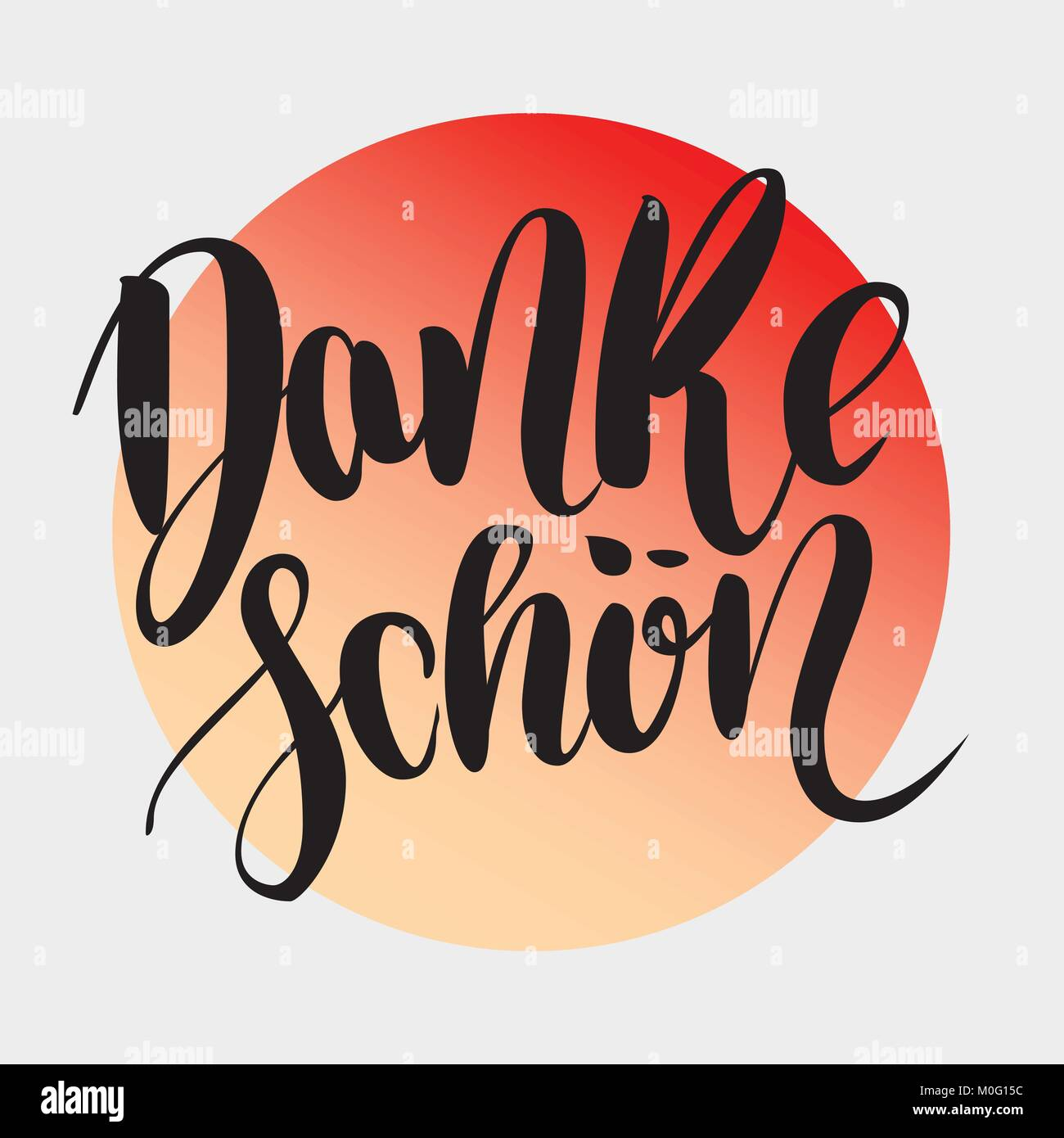 SchoenThank In Hand Brush Danke GermanVector Drawn Lettering You BoexrdC