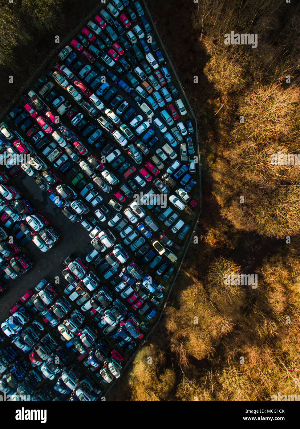 Scrap yard from the sky - Stock Image