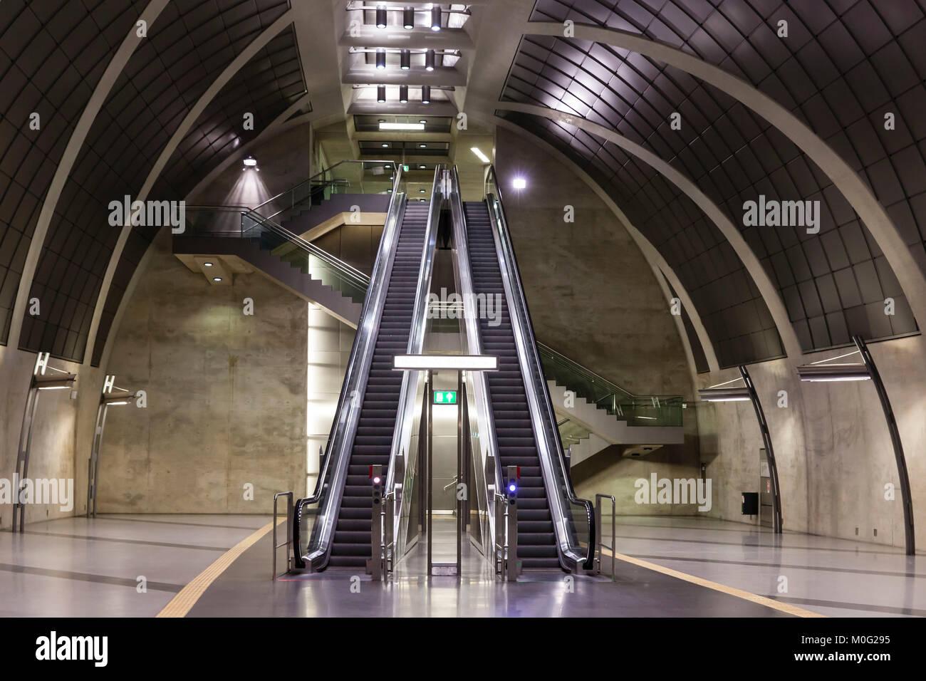 Europe, Germany, Cologne, subway station Heumarkt.  Europa, Deutschland, Koeln, U-Bahnstation Heumarkt der Nord - Stock Image