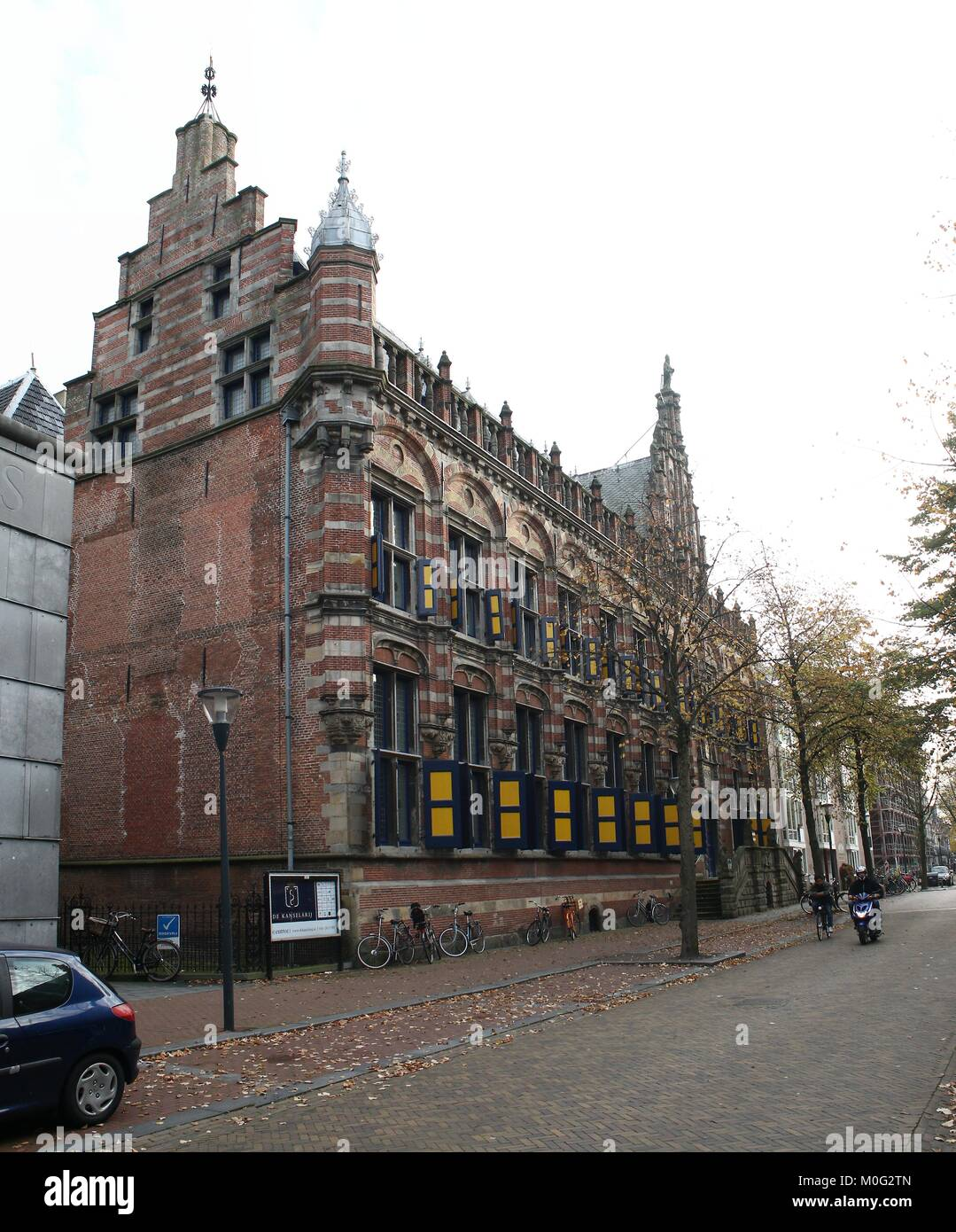 Iconic mid 16th century former Chancellery at Turfmarkt street, central Leeuwarden, Friesland, The Netherlands. - Stock Image