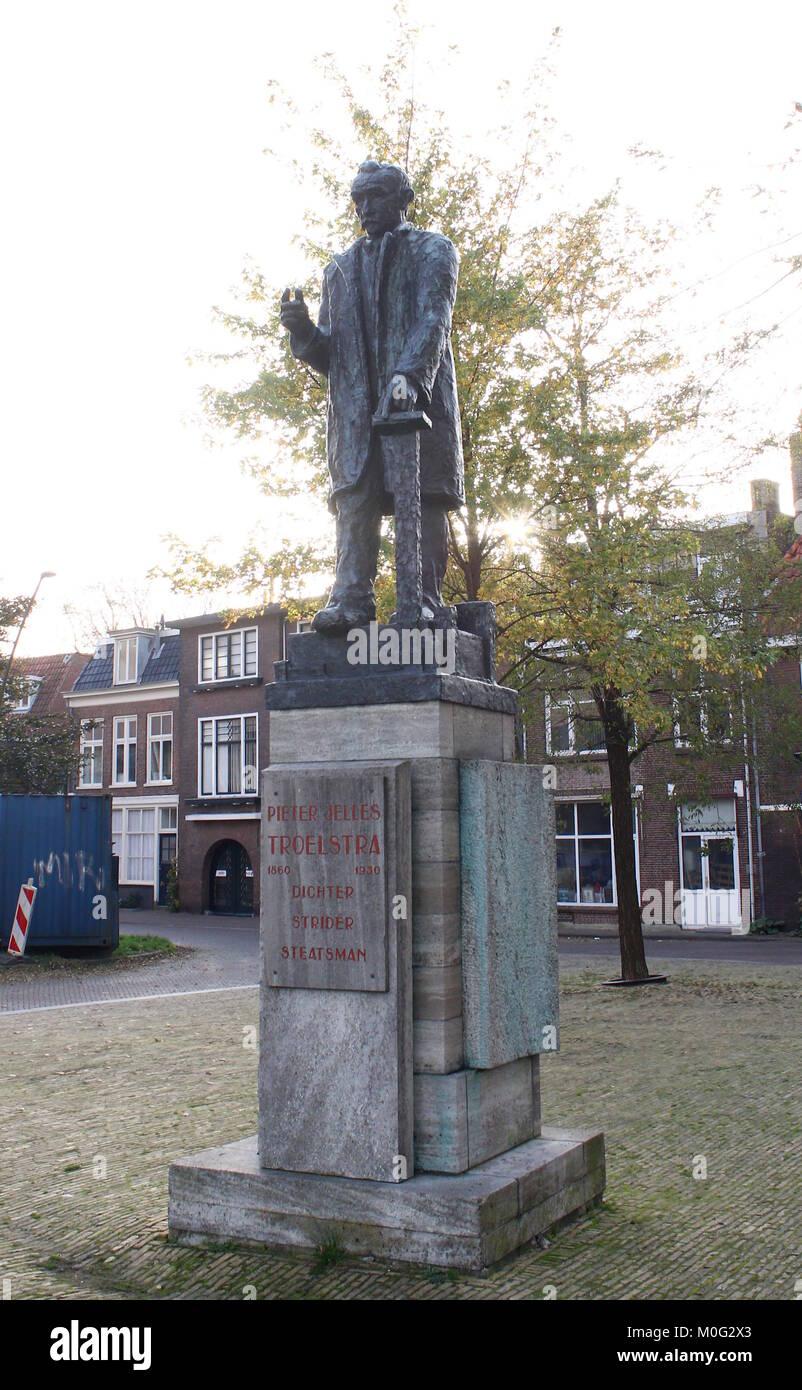 Leeuwarden Friesland The Netherlands A Statue Of Frisian