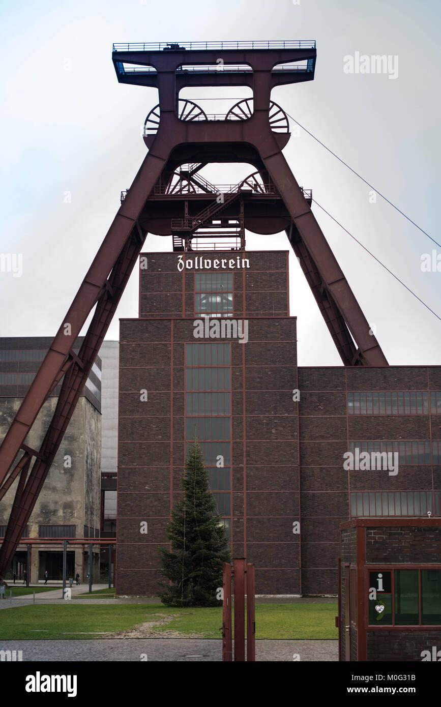 zollverein architecture, essen - Stock Image