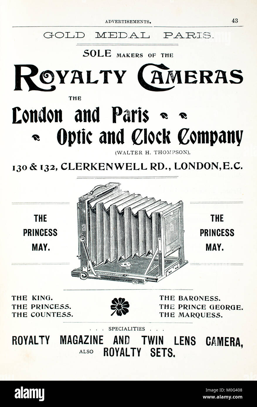 Royalty Cameras advertisements from Photography In A