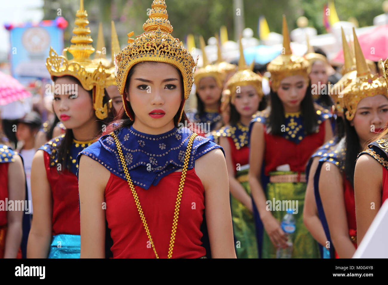 Lao New Year Parade for Pi Mai in UNESCO World Heritage ...