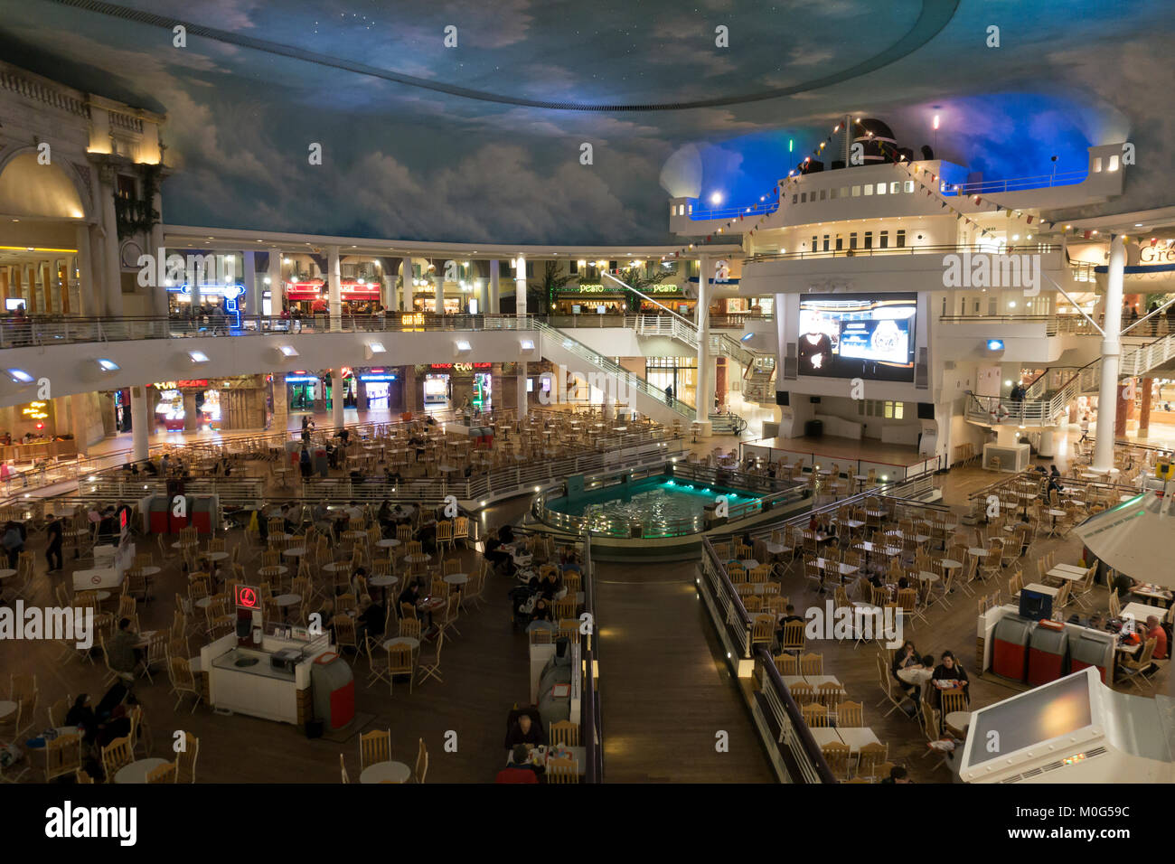 The Orient food court at intu Trafford Centre, Manchester, England. - Stock Image