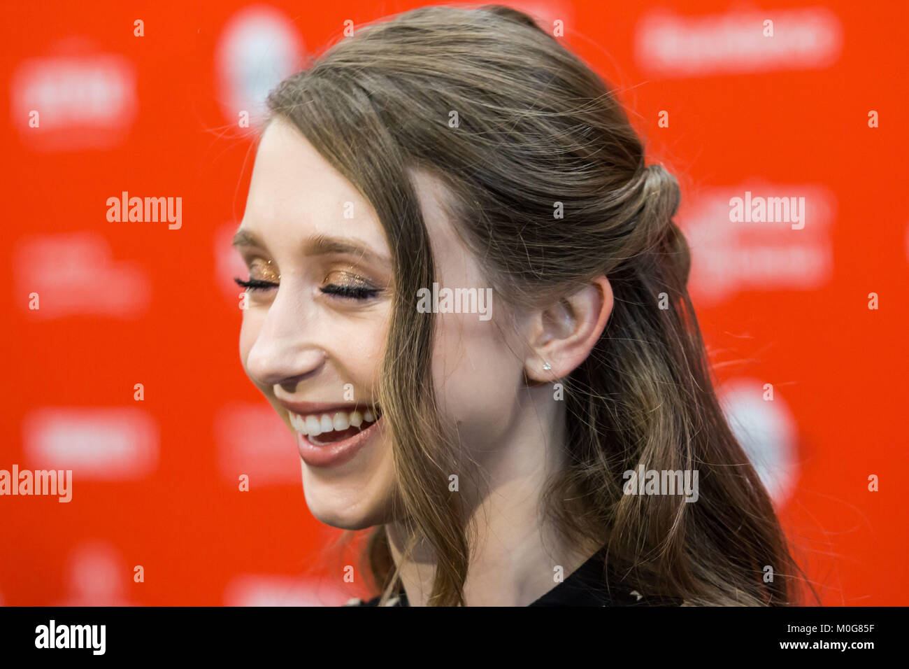 Actress Taissa Farmiga attends the 'What They Had' Premiere during the 2018 Sundance Film Festival at Eccles - Stock Image