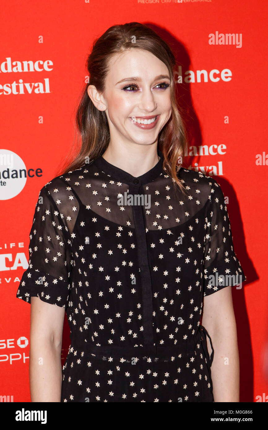 Actress Taissa Farmiga attends 2018 Sundance Film Festival in Park City, Utah. - Stock Image