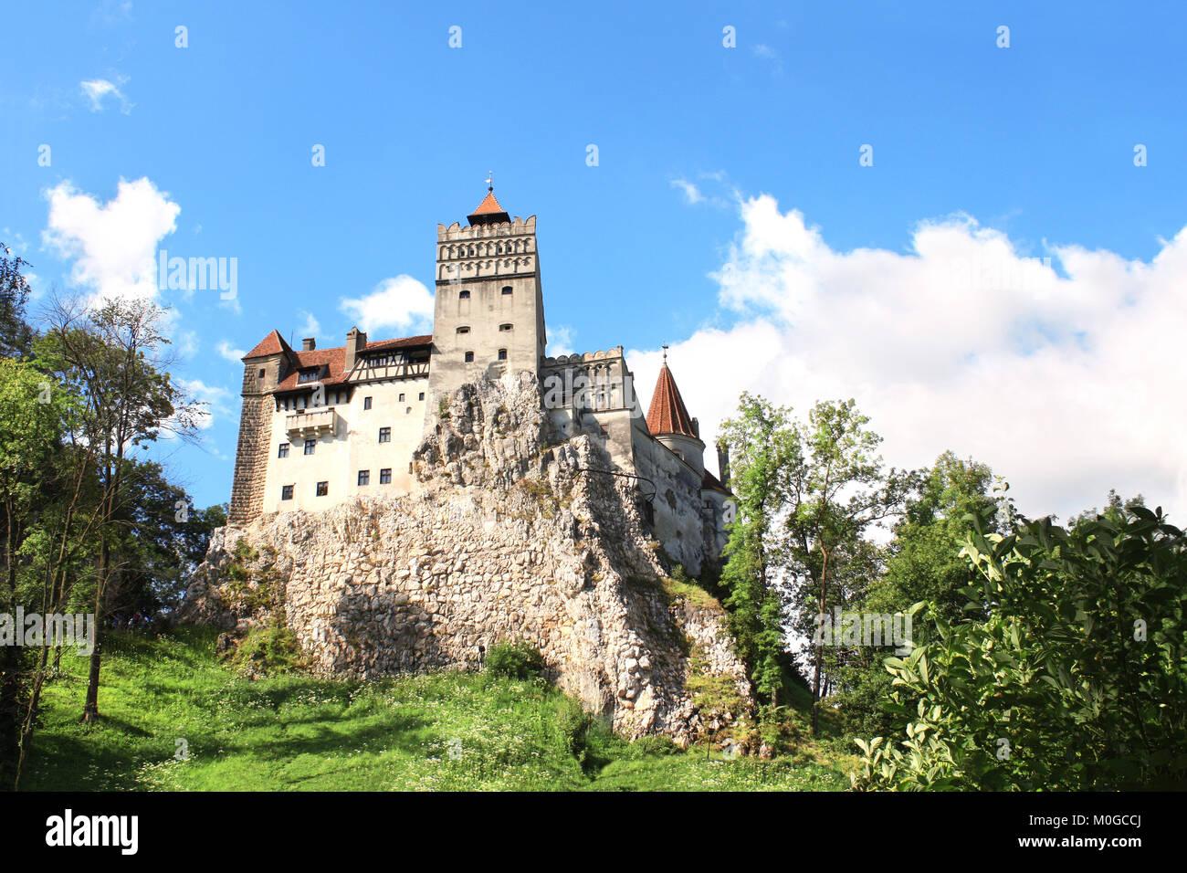 Medieval Castle of Bran (Dracula's castle), Brasov, Transylvania, Romania, Europe - Stock Image