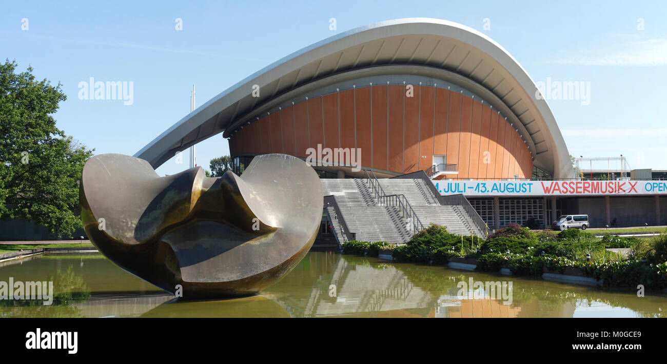 House of the cultures of the world, HKW, former, Berliners, convention hall, pregnant oyster, world culture house, - Stock Image