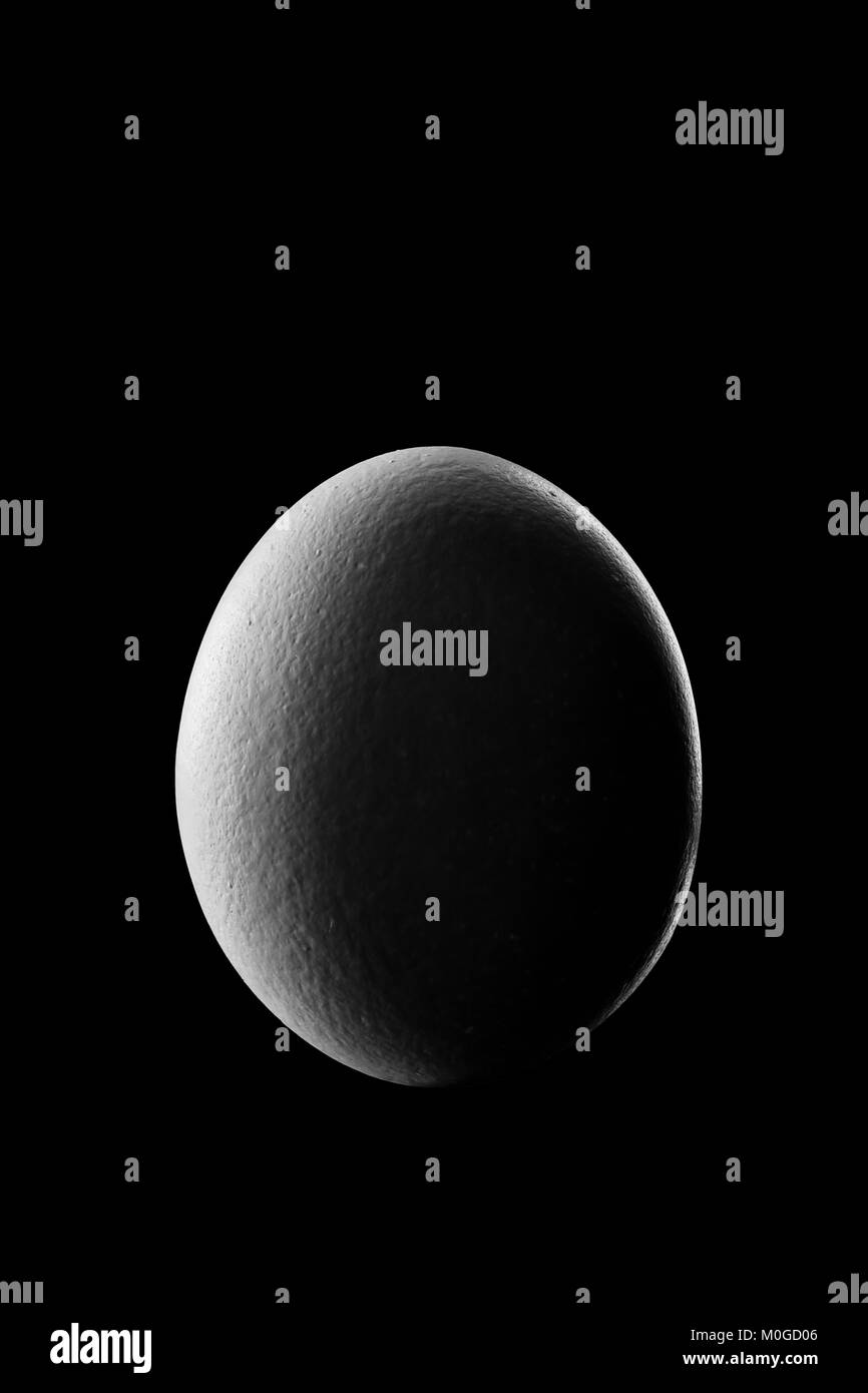 Waning crescent Moon Phase show by Egg in night with shadow Planet - Stock Image