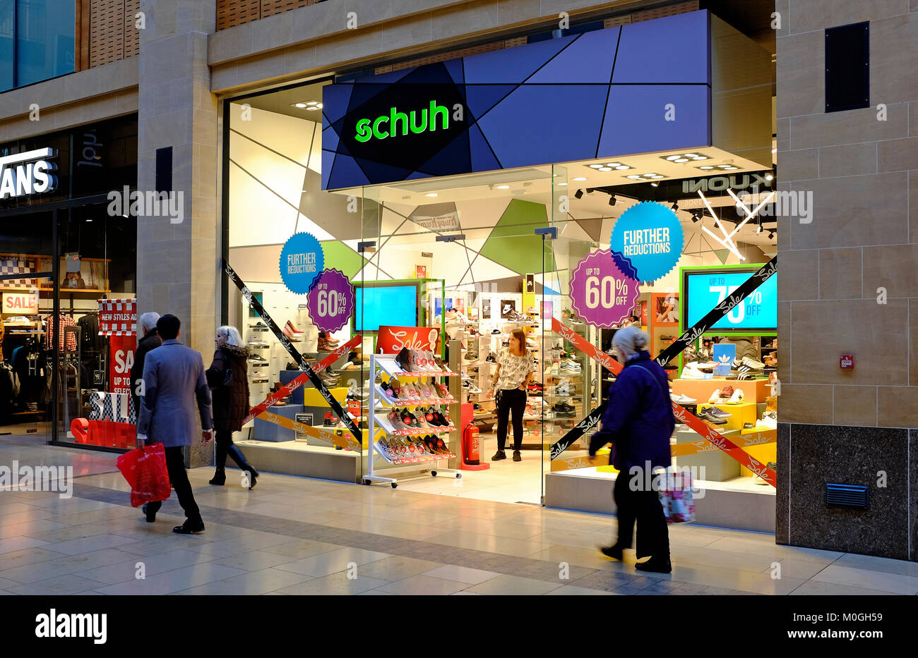 schuh footwear store, grand arcade, cambridge, england - Stock Image