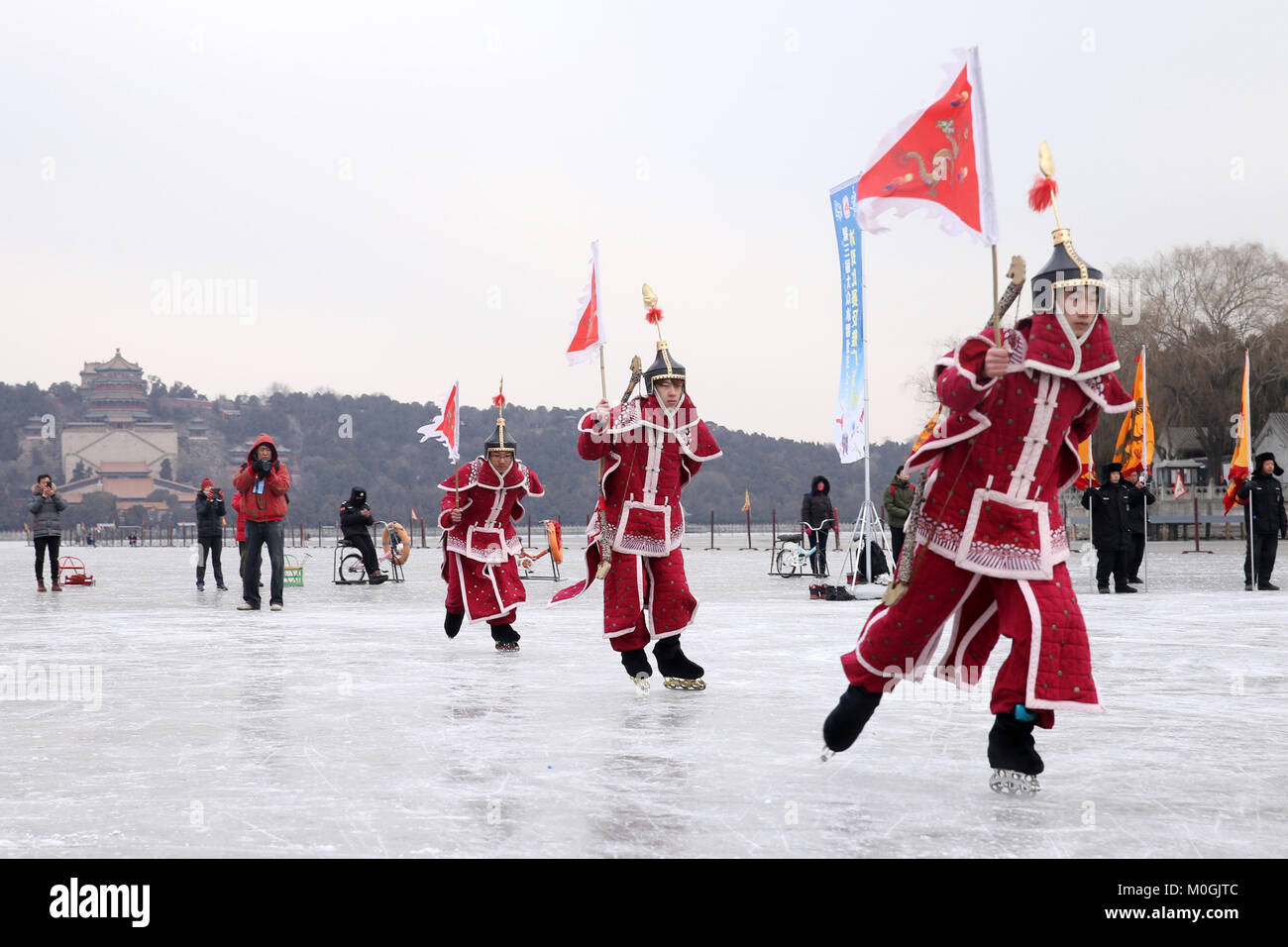 Beijing, China. 21st Jan, 2018. The ice and snow festival is held at Summer Palace in Beijing, January 21st, 2018. Credit: SIPA Asia/ZUMA Wire/Alamy Live News Stock Photo