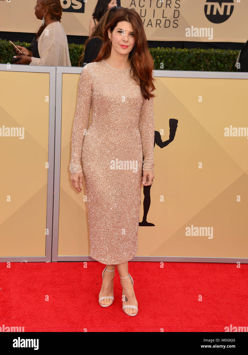 Los Angeles, USA. 21st Jan, 2018. Marisa Tomei 148 attends the 24th Annual Screen Actors Guild Awards at The Shrine - Stock Image