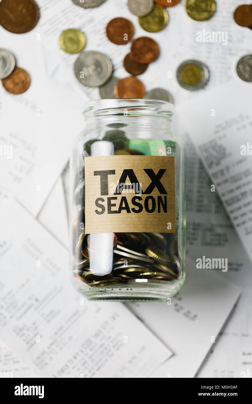 Series about money (Tax deadlines) - Stock Image